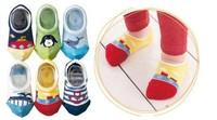 5Pairs/Lot free shipping Anti-slip baby socks children's Low Cut Socks Unisex baby socks booties kids Socks