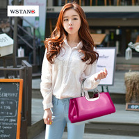 W S Tang Double 2014 bright japanned leather trend handbag women's bridal evening handbag bag