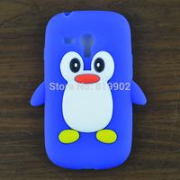 For samsung i8190 galaxy S III S3 mini Case,Cute Cartoon Silicone Soft Penguin Skin Cover Case + free gift