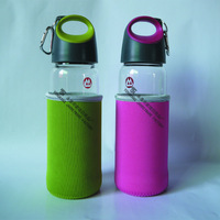 500ML Single Wall Glass Water Bottle With Filter