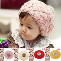 Wholesale Fashion Children Baret Hat Baby Winter Hat Handmade Crochet Beanies Caps Kids Headwaer 1pcs Free Shipping MZD-010