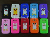 10pcs/lot Cute Cartoon Soft Silicone Penguin Skin Cover Case for Samsung Galaxy Grand Duos GT-i9080 i9082 i9080