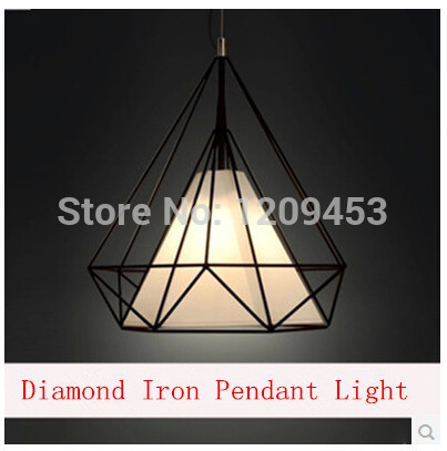 American Vintage Creative Industries Iron Pendant Light Modern Minimalist IKEA Scandinavian Living Room Iron Bar Diamond Lamps(China (Mainland))