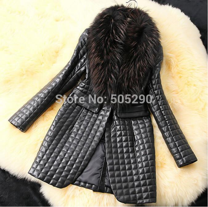 2014 new winter autumn women Faux Leather grass coats,Women Faux fur jacket,women's fashion latest brand,woman long coats(China (Main