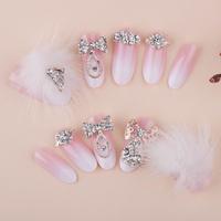 New Hot Sale Crystal Full Cover  DIY Derorations Wedding Fasles Bridal Nail Acrylic Nail Art Tips Drop Ship HC09-WD-041
