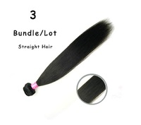 "3pcs/lot Malaysian Virgin Hair Human Hair Weave Straight,Unprocessed Hair Natural Color 8""-30"""