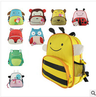 Hot lovely children school bags for teenagers frozen backpack The zoo kids school bag  mochila infantil free shipping