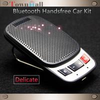New Wireless Bluetooth Car Kit Handsfree Speakerphone Speaker Phone Hands Free Car Bluetooth Handsfree Kit + Car Charger