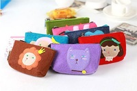 Korean Fashion Romane Cute Animal Coin Purse Mobile Phone Bag Key Cases Felt Pouch MIX ORDER