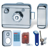 card eletronic door lock with Infrared remote control and wireless alarm