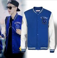 Free shipping Exo Youth pop hoodies sweatshirt baseball uniform Superstar stree with quilted baseball jacket fleece S3004
