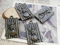 15pcs bronze lonely angel alloy charms bracelet necklace pendant diy decoration cabochon steam punk jewelry accessories