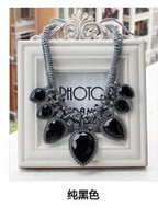 Free shipping New Black necklace women sweater chain Jewellry Hot Wholesales Flower Pendant Choker necklace