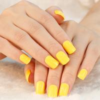 New Fashion Yellow Fast Easy Press On 24 Nails Salon Manicure Nail Art Full Cover False Nail Drop Ship  A0344