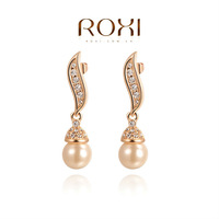 ROXI Pure handmade fashionable , genuine Austrian crystal,fashion pearl Earrings,women trendy earringsChrismas/Birthday gift