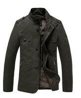 Men's Casual Cotton Lightweight Jacket Outwear high quality jackets