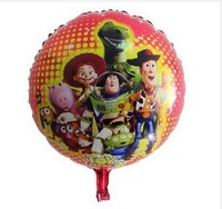 10pcs/lot Balloon Cartoon Buzz Woody Toys Story 18 inch 45*45cm Foil Balloon Classic Toys Wedding Balloon Birthday Gifts