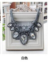 Free shipping New White necklace women sweater chain Jewellry Hot Wholesales Flower Pendant Choker necklace
