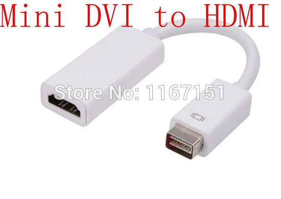 500PCS/Lots Best Selling 15cm Mini DVI to HDMI Adapter Converter Cable for Apple MacBook Pro Air Mac iMac Monitor Projector(China (Mainland))