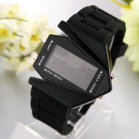 50pcs/lot LED Watch Aircraft dial military watches outside sports watch airplane surface 2colors men's wristwatches WA041