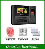 "2.8"" Color display Office Biometric Attendance System Management Fingerprint Recorder Time Clock Free Shipping Drop Shipment"