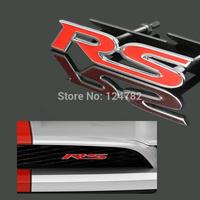 FREE SHIPPING! 3D Metallic RS emblem stickerge sticker for Ford Focus, Chevrolet Cruze 2013,Solaris auto car sticker