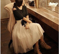 Popular 3092 expansion bottom puff skirt bust skirt gauze skirt lace medium skirt