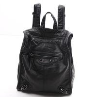 2014 Fashion street style Vintage punk motorcycle bag backpack women's handbag  water-washed soft leather backpack big bag