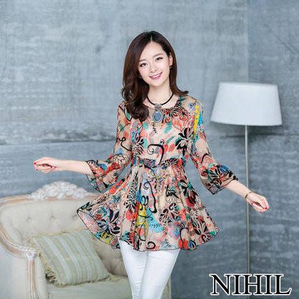 Женские блузки и Рубашки NIHIL 2015 Blusas Femininas 888 T14883