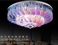 remote control color change Modern brief living room lights crystal led ceiling light romantic bedroom/restaurant lamp
