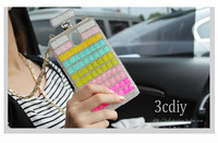 Rhinestone Phone Case Luxury Mobile Phone Case With Gold Leather Chain  for sumsung s3 s4 s5 note 2 note 3 case