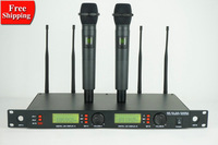 Free shipping U-93 Professional wireless microphone Double Black metal Handheld mic Best quality