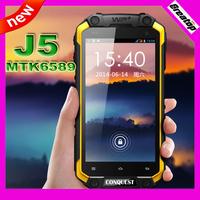 Original CONQUEST (MFOX) J5 IP68 waterproof outdoor phone Quad core MTK6589wtk RAM 1GB+16GB 1.5Ghz 1280x720 DHL/EMS free ship