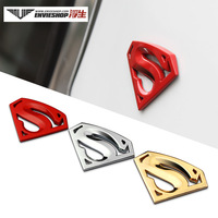 Free Shipping Car personalized decoration stickers superman super man car stickers body stickers 3d metal emblem label
