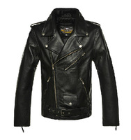 new Men's leather jackets autumn lapel Slim Washed PU leather motorcycle coat leather jacket men S-XXL