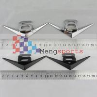 Black Chrome V6 V8 Metal Sticker Badges Emblem 100x50mm wholesale