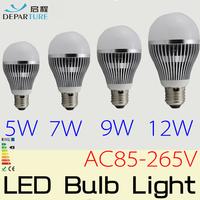 10PCS  Epistar 5730 LED Bubble Ball bulb Non-Diemmabl E27 5W 7W 9W 12W AC85-265V, 110V /220v led light lamp bulb FREE SHIPPING