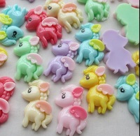 Mix Cute Color Little Pony Resin Flatbacks Flat Back Scrapbooking Lots 28ps