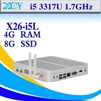 fanless industrial pc Minimal maintenance thin client factory descomputer X26-i5L 4GB ram 8GB ssd support Linux OS Ubuntu