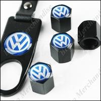 4caps car automobile auto truck wheel tire tyre valve cap cover covers caps vw brand logo emblem badge keychain keyring