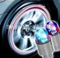 wholesale&retail led flashing car light cool wheel lamp colorful tire lighting free shipping