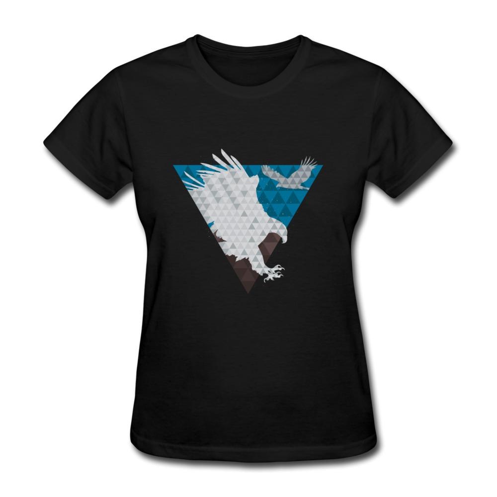 Only 1 Piece Gildan Tee Shirt Women Eagle Falcons Personalize Funny Logo Women T Shirts(China (Mainland))