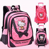 Hello Kitty Girl School Bag Student Backpacks Primary School bags