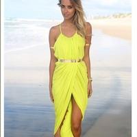 Fashion hot-selling women's suspender skirt slim waist slim sexy one-piece dress