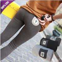 Free Shipping Long Tenths Leggings Pants for Boots Autumn Cute Cat Women's Slim Pencil Pants KZ9022
