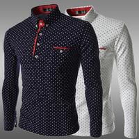 Мужская повседневная рубашка & Men'sJeans , FitnessforMen'sblouse, 2pockets chestwith3Colors 163-c801-50
