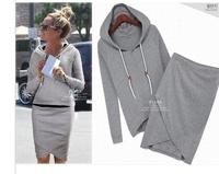 Autumn-summer Baseball Skirt Women Casual Blouse Jacket Sport Suits Sweater Pet Hoodies Workout Shorts Suit WT4075