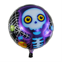 50pieces/lot Cartoon  halloween skeleton inflatable   balloons  decoration  for celebration