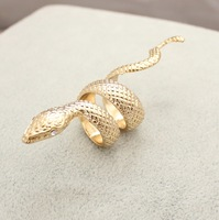 2014 free shipping  new gold snake Fashion ring US7#/1.7cm   140722