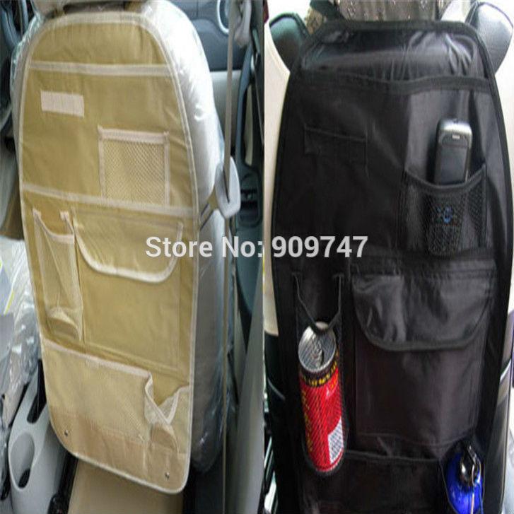 Car multi Pocket auto car back seat organizer storage bag suspension Coasters multi use Trip Black/Beige(China (Mainland))